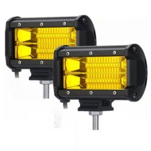 Фара светодиодная 72W ближний свет желтая, код 5973